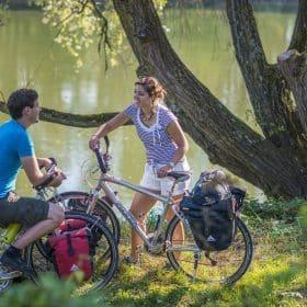 Saint-Jacques à vélo : bords de Loire à Marmoutier @ D. Darrault - CRT Centre-Val de Loire